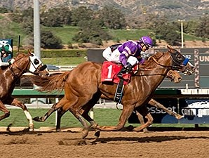 Lord Nelson wins the San Vicente Stakes.