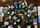 Tributes to John Henry adorn the late champion's stall during a memorial service for champion John Henry at Kentucky Horse Park in Lexington, Ky., Friday afternoon, October 19, 2007. Photo by Matt Goins