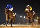 Maftool, outside, wins the UAE 2000 Guineas Feb. 12, 2015.
