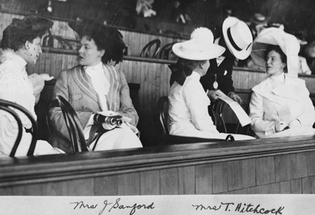 Mrs. J. Sanford and Mrs. T. Hitchcock enjoying a day at the Spa with guest in 1903.