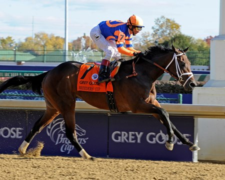 Caption: Uncle Mo wins the Breeders' Cup Juvenile at Churchill Downs on Nov.6, 2010, in Lexington, KY. JUvenileORigs2 image952 Photo by Anne M. Eberhardt