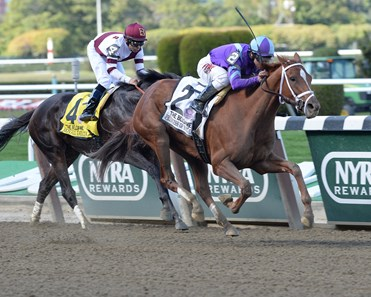 Princess of Sylmar, facing older foes for the first time, sprung a mild upset Sept. 28 when the 3-year-old filly collared two-time champion Royal Delta and went on to win the $400,000 Beldame Invitational Stakes (gr. I).