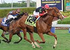 Irish Mission wins the La Prevoyante Stakes.