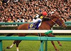 "Let's Go Donki leads the way to victory in the Oka Sho.<br><a target=""blank"" href=""http://photos.bloodhorse.com/AtTheRaces-1/At-the-Races-2015/i-bBbXFSt"">Order This Photo</a>"