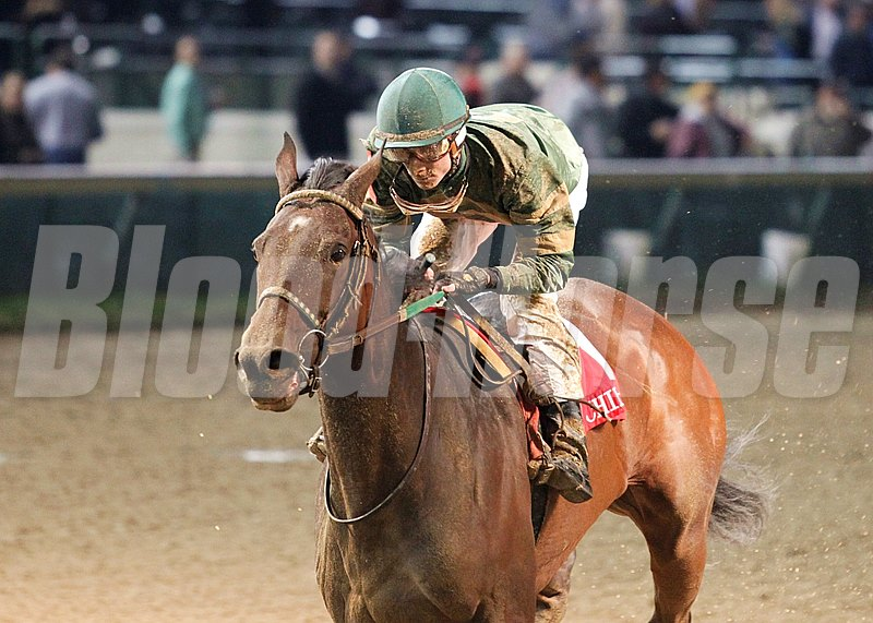 Don't Tell Sophia rallied from last in the field to sail past favorite Wine Princess en route to a 2 π-length victory in the 28th running of the $165,200 Grade II Chilukki Stakes at Churchill Downs in Louisville, Kentucky.