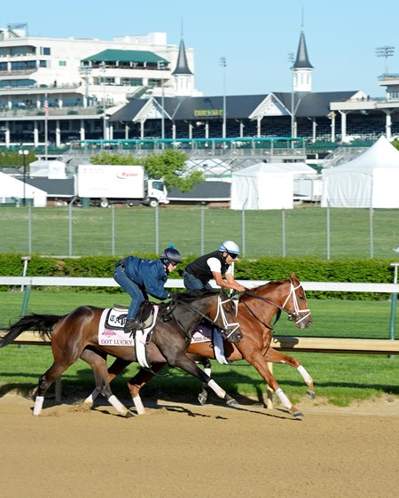 Caption: Got Lucky, outside, and My MIss Sophia working