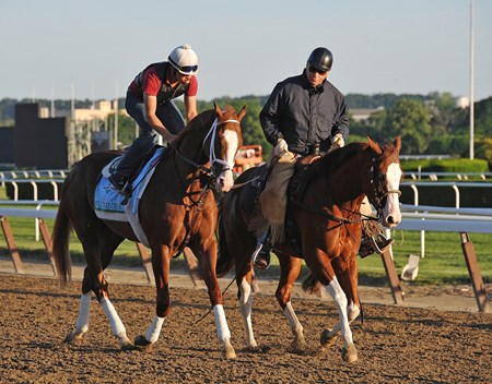 Trainer D. Wayne Lukas, ponying Will Take Charge at Belmont, Wednesday morning...