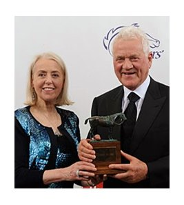 Freida and Frank Stronach after winning the Eclipse Award of Outstsanding Breeder for 2011.