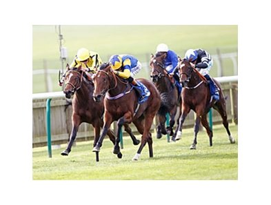 "Chriselliam flies home late to win the Shadwell Fillies' Mile.<br><a target=""blank"" href=""http://photos.bloodhorse.com/AtTheRaces-1/at-the-races-2013/27257665_QgCqdh#!i=2794168867&k=gbhssbR"">Order This Photo</a>"
