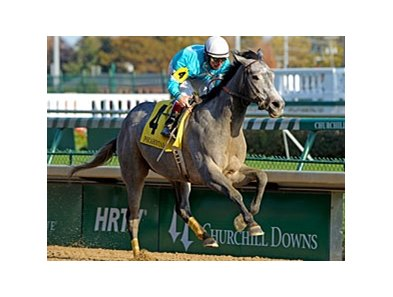 On Fire Baby wins the Pocahontas Stakes.