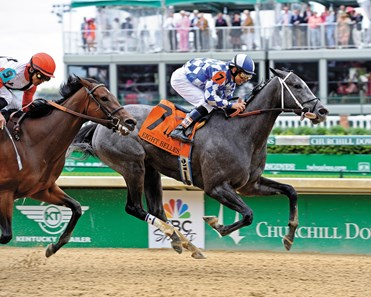 With a heart the size of the state where she was bred, Fiftyshadesofgold nailed down her first graded stakes win when the Texas-bred held off a determined Milam to register a half-length victory in the $200,725 Grade III Eight Belles Stakes at Churchill Downs.