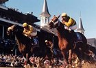 1999: Charismatic's (right) half length win over Menifee gives Wayne Lukas his fourth Derby