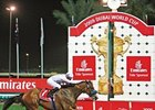 Well Armed, under a snug hold by jockey Aaron Gryder, cut loose at the head of the straight and romped to a record 14-length victory in the $6 million Dubai World Cup (UAE-I) March 28, the final race to be run at Nad al Sheba.