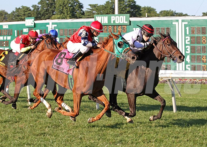 Valiant Girl #4 with Forest Boyce riding won the $60,000 Omnibus Stakes at Monmouth Park in New Jersey.
