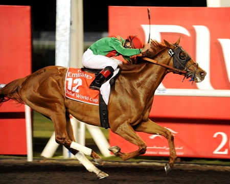 Joel Rosario rode the 2011 Kentucky Derby Presented by Yum! Brands (gr. I) victor to a two-length triumph in the Emirates Airline-sponsored $10 million event—the world's richest horse race —for trainer Graham Motion and owners Arrowfield Stud and Team Valor International.