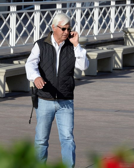 Caption:  bob Baffert on the move