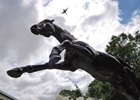 Secretariat Statue in the Belmont Paddock...
