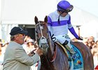 "I'll Have Another wore a nasal strip when he won the Preakness Stakes.<br><a target=""blank"" href=""http://photos.bloodhorse.com/TripleCrown/2012-Triple-Crown/Preakness-Stakes-137/23013252_TrG3NS#!i=1856148129&k=CFsVKRF"">Order This Photo</a>"