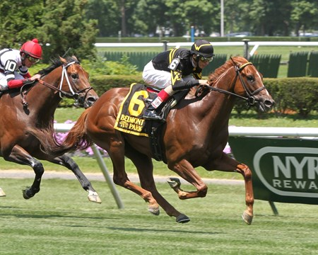 Undrafted, named after Welker's status coming out of college, wins the grade III Jaipur Invitational at Belmont Park in 2014.