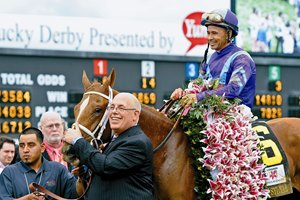 Owner Ed Stanco with King of Prussia Stable: Princess of Sylmar with Mike Smith wins the Kentucky Oaks sponsored by Longines at Churchill Downs near Louisville, Ky. on May 3, 2013, during Kentucky Derby and Kentucky Oaks week.