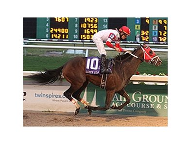 "International Star will attempt to keep his winning streak alive March 28 in the Louisiana Derby.<br><a target=""blank"" href=""http://photos.bloodhorse.com/AtTheRaces-1/At-the-Races-2015/i-c4PfjDL"">Order This Photo</a>"