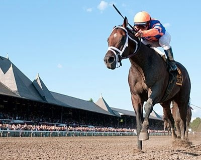 OUT OF THE GATE: Stay Thirsty finally grabbed his breakthrough win July 30 at Saratoga when he turned in a dominating performance in the $500,000 Jim Dandy.
