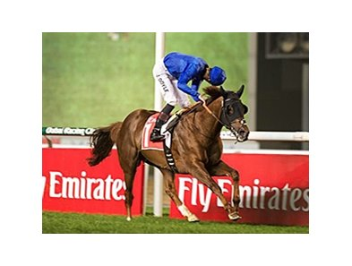 Hunter's Light cruises to victory in the Jebel Hatta.