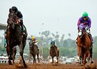 Shared Belief and California Chrome in the San Antonio Invitational Stakes.