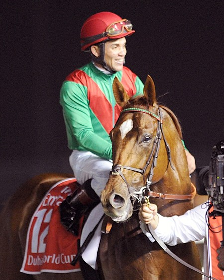 Joel Rosario and Animal Kingdom win the Dubai World Cup.
