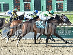 Call Me George wins the 2015 New Orleans Handicap.