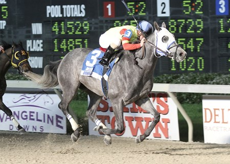 Hero Force wins the first running of The Pelican Stakes on 3/9/2013 for $75,000 at 7-1/2 Furlongs in 1:33.36.