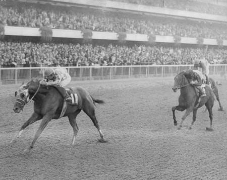 Stop The Music was declared the winner in 1972 after Secretariat was disqualified for bumping and placed in second.