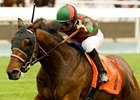 Make Music for Me won his only prior start on grass, the one-mile Pasadena Stakes at Santa Anita March 6.