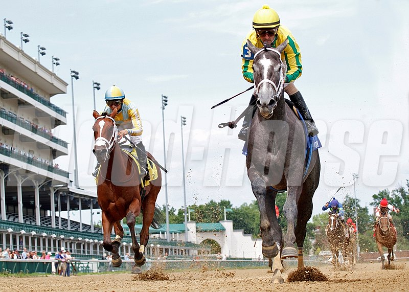 Promise Me Silver is victorious in the Debutante Stakes at Churchill Downs.