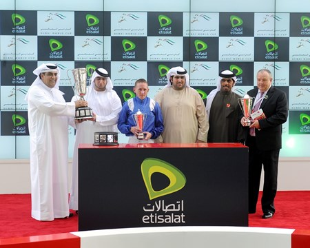 The Godolphin Mile trophy presentation.