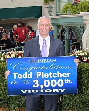 Trainer Todd Pletcher's Donn Day celebration began early, as he picked up his 3000th win, when Spring Hill Farm won the 3rd race at Gulfstream.