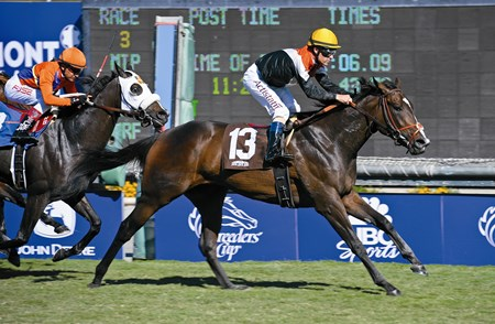 Pontchatrain wins the Ken Maddy Stakes (gr. III) on the turf.