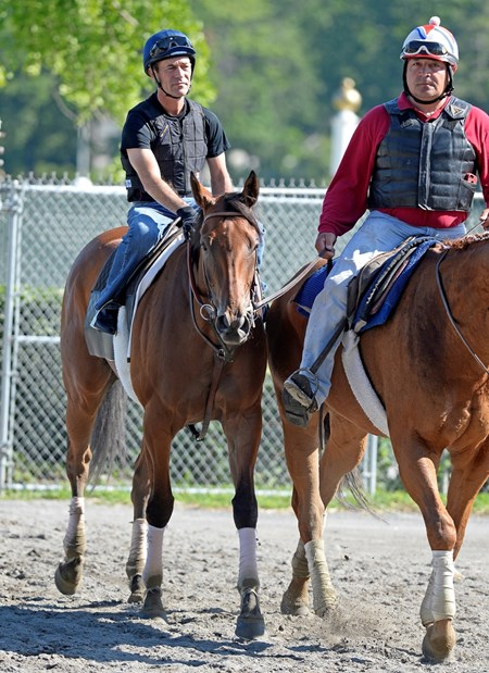 Caption: Beholder with Gary Stevens after work