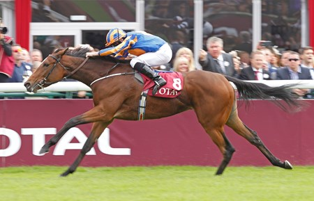 Coolmore and partners' Found scored in convincing fashion in the Total Prix Marcel Boussac Criterium des Pouliches (Fr-I) for 2-year-old fillies at Longchamp.