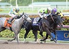 "Valid gets his head in front to win the Fred W. Hooper.<br><a target=""blank"" href=""http://photos.bloodhorse.com/AtTheRaces-1/At-the-Races-2015/i-7ssQtrN"">Order This Photo</a>"