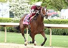 Untapable rolls home to win the Apple Blossom Handicap at Oaklawn.