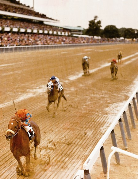 Secretariat struggles home second in the Woodward Stakes behind Prove Out.