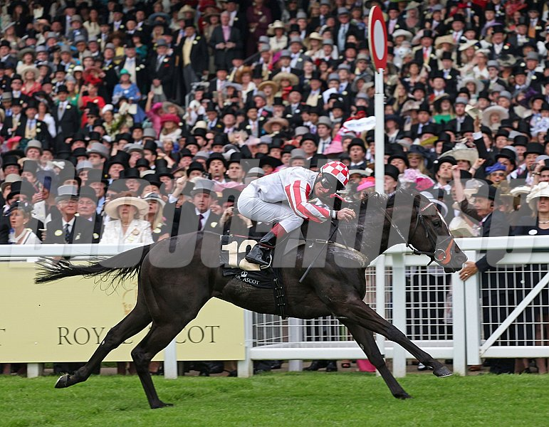 Sole Power ridden by Johnny Murtagh wins the Kings Stand Stakes at Royal Ascot.