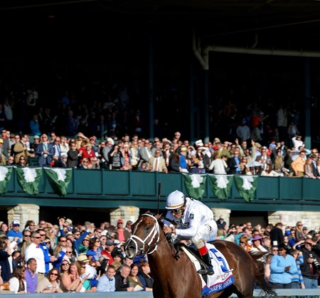 Carpe Diem won for fun in the Grade I $1 million Toyota Blue Grass Stakes at Keeneland, living up to his 2-5 favoritism and the hype that surrounded him leading into the race.