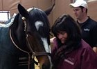 Barbara Banke with Rachel Alexandra on February 15.