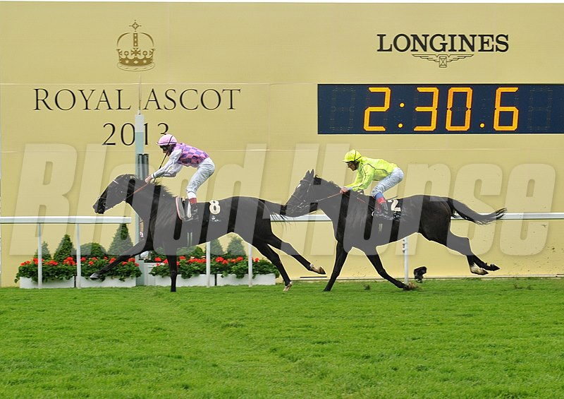 Thomas Chippendale, Johnny Murtagh up, wins the Hardwicke Stakes at Royal Ascot.