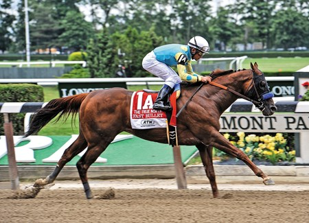 Fast Bullet, Joel Rosario up, wins the Gr2 2013 True North Handicap at Belmont Park...