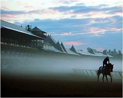 The sun rises on Saratoga as everyone prepares for another exciting meet.