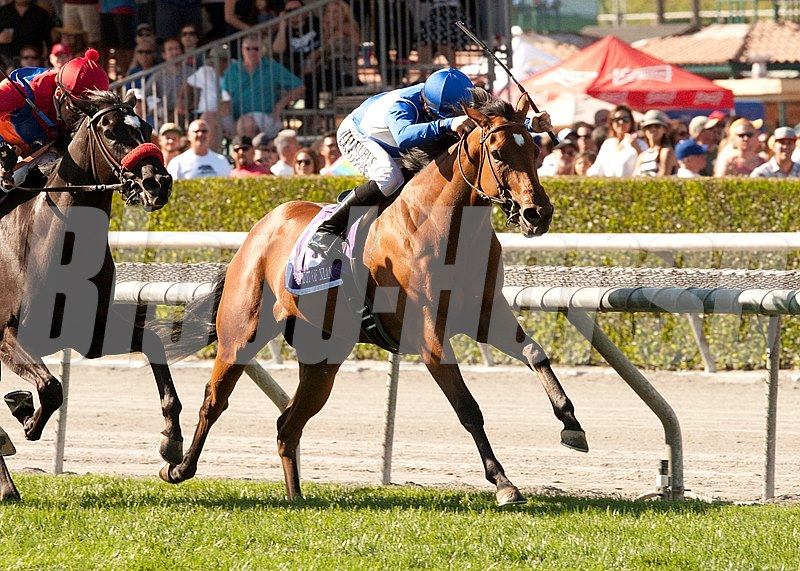 Spirit of Xian spurted out to the early lead and was never headed en route to victory in the Grade III $150,000 Providencia Stakes for 3-year-old fillies at Santa Anita Park.