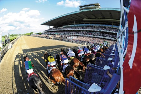 Start of the 2013 Belmont Stakes
